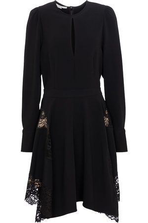 Stella McCartney Celeste lace-trimmed cady minidress