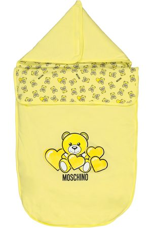 Moschino Baby printed cotton bunting bag