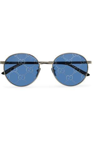 Gucci Mænd Solbriller - GG0944SA Sunglasses Silver/Blue