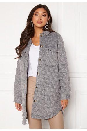 Object Vera owen long quilt jacket Medium Grey Melange 38