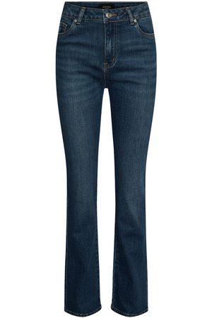 Vero Moda Kvinder Bootcut - Vmsaga High Waisted Flared Jeans Kvinder