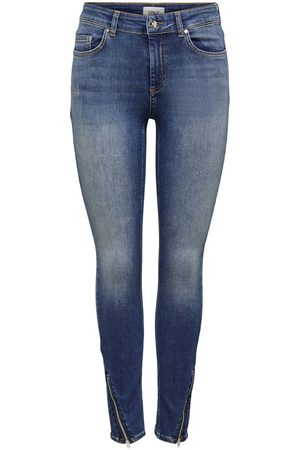 Only Kvinder Skinny - Onlblush Life Mid Ankle Zip Skinny Fit Jeans Kvinder