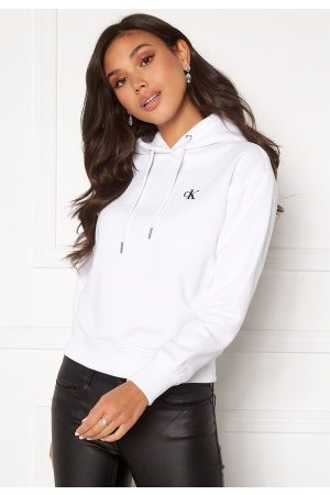 Calvin Klein Jeans CK Embroidery Hoodie Bright White M