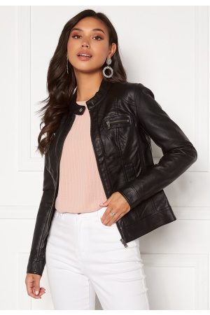 Only Bandit Faux Leather Biker Black 42