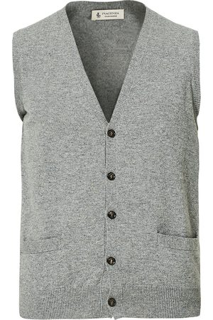 Piacenza Cashmere Mænd Cardigans - Cashmere Sleeveless Cardigan Light Grey