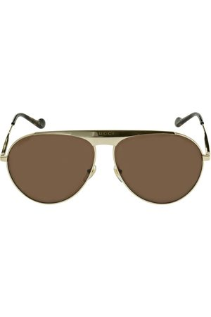 Gucci Gg0908s Pilot Metal Sunglasses