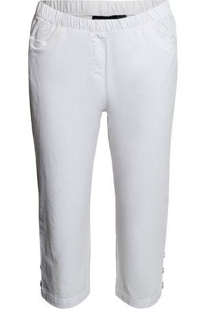 Brandtex Kvinder Trekvartbukser - Capribukser med elastik i linningen - White - 38