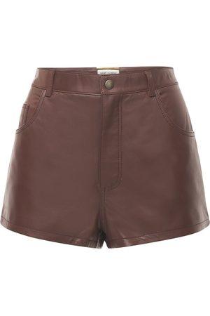 Saint Laurent Kvinder Shorts - Leather Mini Shorts