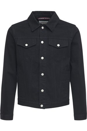 Alexander McQueen Logo Tape Cotton Denim Jacket