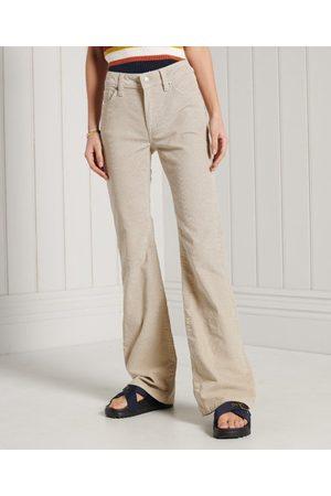 Superdry Kvinder Kassebukser - Smalle jeans med snøre, brede ben og mellemhøj talje