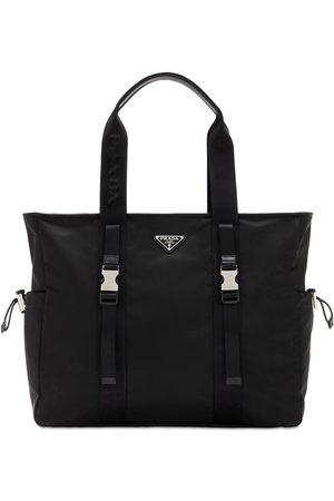 Prada Nylon & Leather Tote Bag