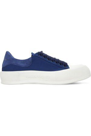 Alexander McQueen Kvinder Casual sko - 45mm Cotton Canvas & Suede Sneakers