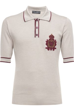 Dolce & Gabbana Silk Knit Polo