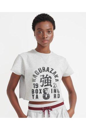 Superdry Kvinder T-shirts - Sport Training Boxing sweatshirt med rå søm