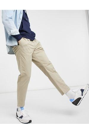 Only & Sons Cropped slim-chinos i beige-Stenfarvet
