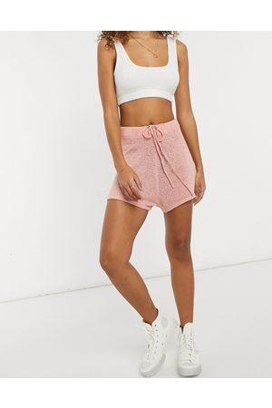 Cotton On Strikkede shorts i pink-Lyserød