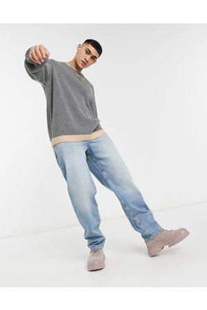 ASOS Baggy jeans i skygget mellemvask-Blå