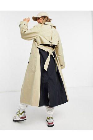 ASOS Trenchcoat i /beige splejset design-Multifarvet