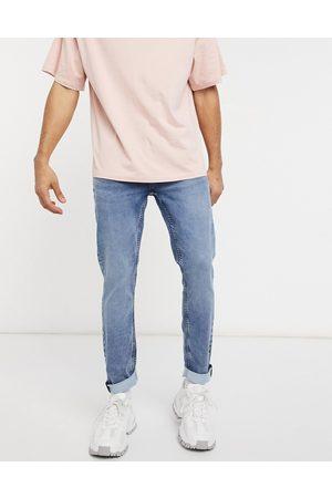 Only & Sons Mellemblå jogging-jeans i slim fit