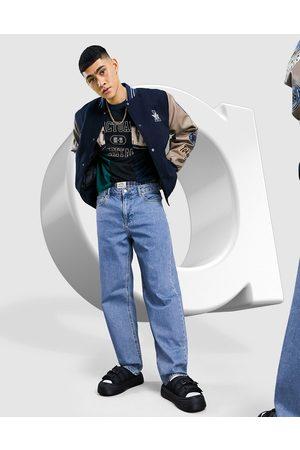 ASOS DESIGN Baggy jeans i mid wash blue