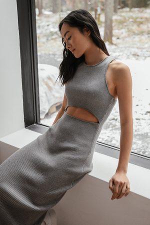 NA-KD Kvinder Casual kjoler - Økologisk Strikkjole Med Udskæring