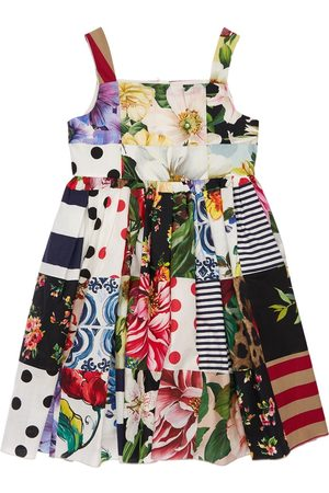 Dolce & Gabbana Patchwork Cotton Party Dress