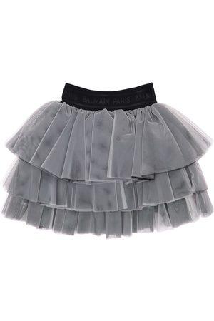 Balmain Ruffled Tulle Skirt