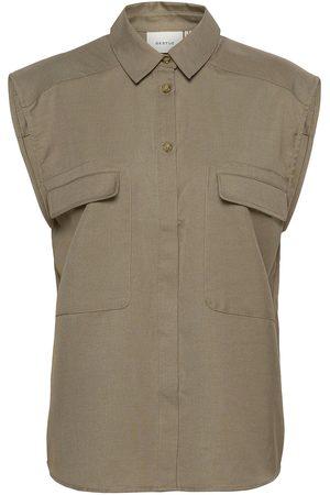 Gestuz Leejagz Sl Shirt Ms21 Kortærmet Skjorte Beige