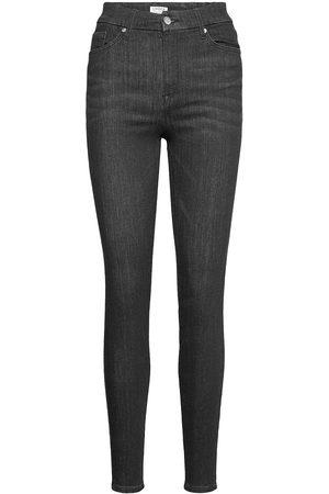 Lindex Kvinder Slim - Trousers Denim Clara New Black Slim Jeans