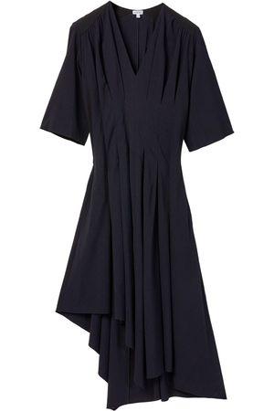 Loewe Asymmetric Pleated Stretch Viscose Dress