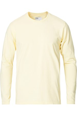 Colorful Standard Mænd Langærmede - Classic Organic Long Sleeve T-shirt Soft Yellow