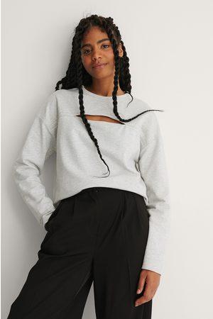 NA-KD Økologisk Sweatshirt Med Udskæringsdetalje