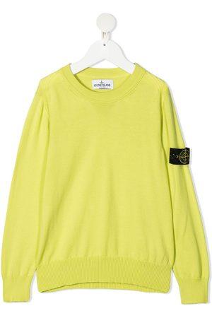 Stone Island Drenge Sweatshirts - Sweatshirt med logotryk på ærmet