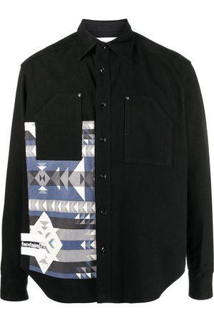 FACETASM Strikket skjorte med geometrisk tryk