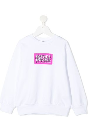 Diesel Piger Sweatshirts - Sweatshirt med Brave-tryk