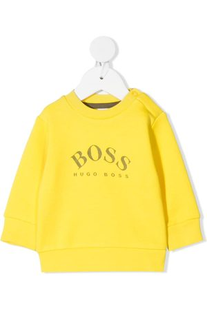 HUGO BOSS Langærmet trøje med logotryk