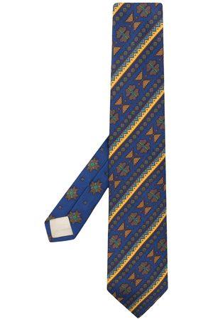 Kenzo Mænd Slips - Silkeslips med geometrisk stribe