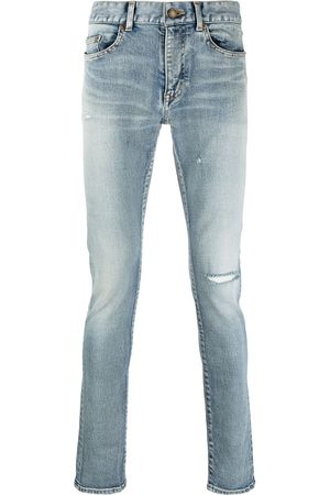 Saint Laurent Skinny jeans med slitageeffekt