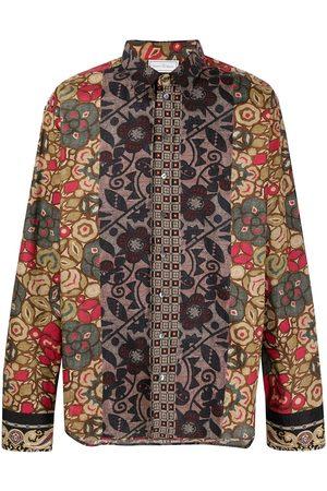 PIERRE-LOUIS MASCIA Razzoli skjorte med patchwork-tryk