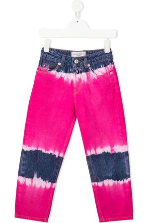 Alberta Ferretti Jeans med lige ben og batiktryk