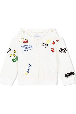 Dolce & Gabbana Hættetrøje med lynlås og DG love-print