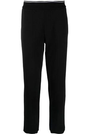 Armani Mænd Joggingbukser - Joggingbukser med ribbet kant