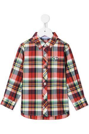 Familiar Drenge Langærmede - Skotskternet skjorte med knapper