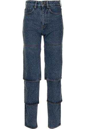 Y / PROJECT Højtaljede jeans med lige ben