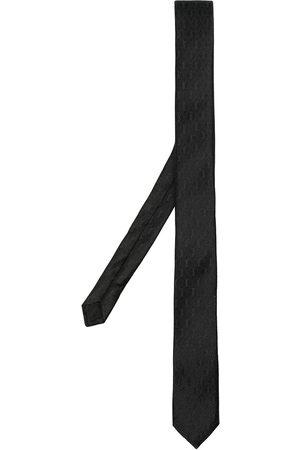 Saint Laurent Mænd Slips - Silkeslips med monogram-mønster