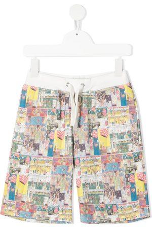 Lanvin Graphic print track shorts
