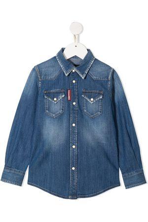 Dsquared2 Piger Denim - Langærmet denimskjorte