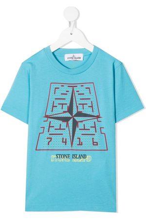 Stone Island Drenge Kortærmede - Logo crew-neck T-shirt