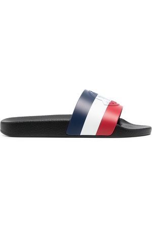 Moncler Klipklapper - Basile tricolour slides