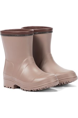 Brunello Cucinelli Kids Piger Gummistøvler - Embellished rubber boots